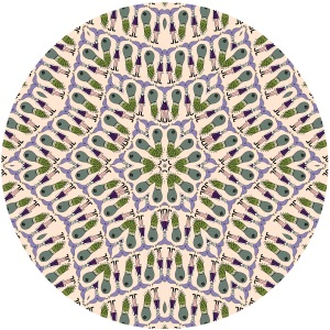 My Dudes pattern using the Kaleidoscope template